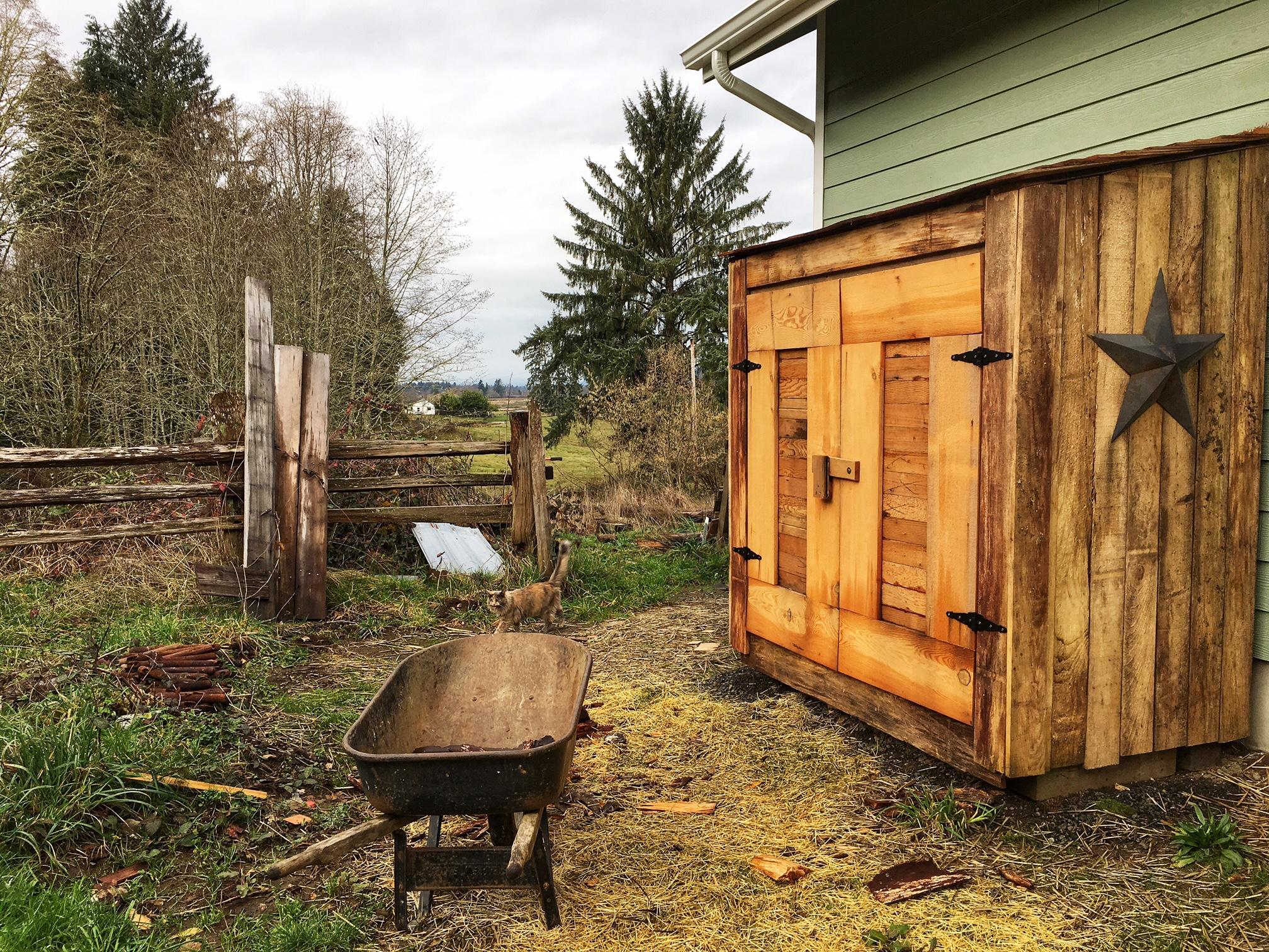 The woodshed that Jasper built